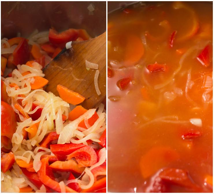 Spicy pepper & tomato soup