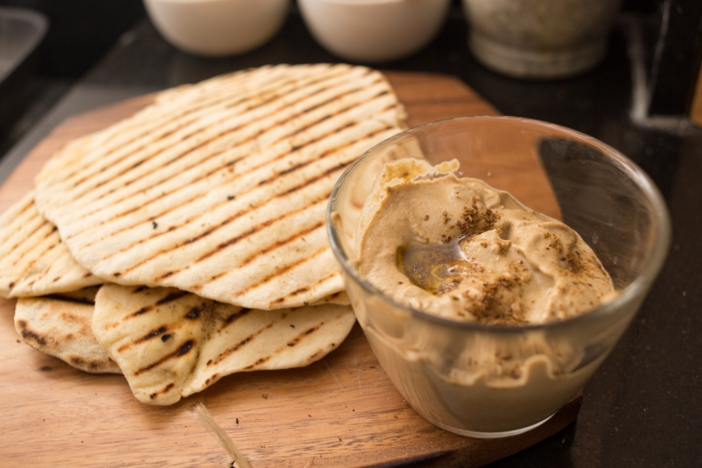 Flatbread and Baba Ghanoush